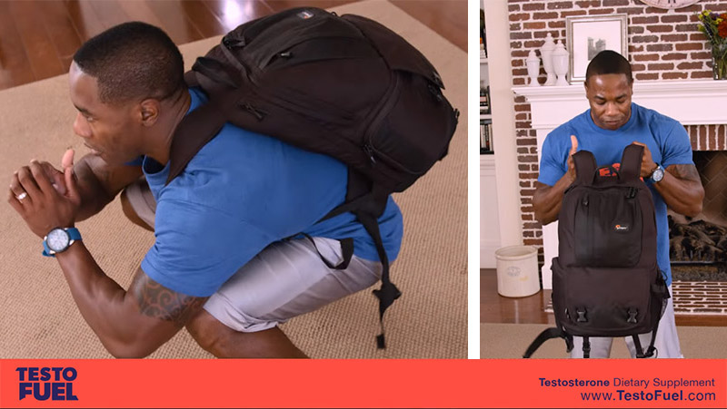 Weighted Backpack Training Home Workout