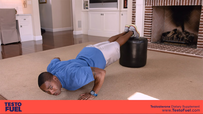 chair workouts at home decline push up