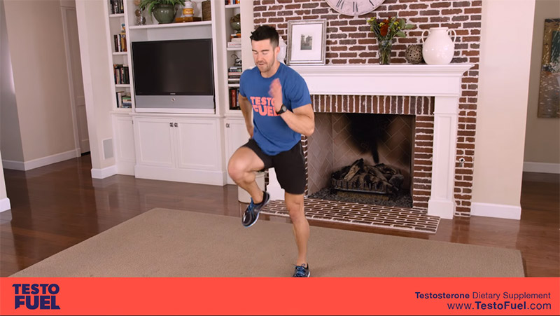 hiit exercises that boost testosterone high-knee-sprints