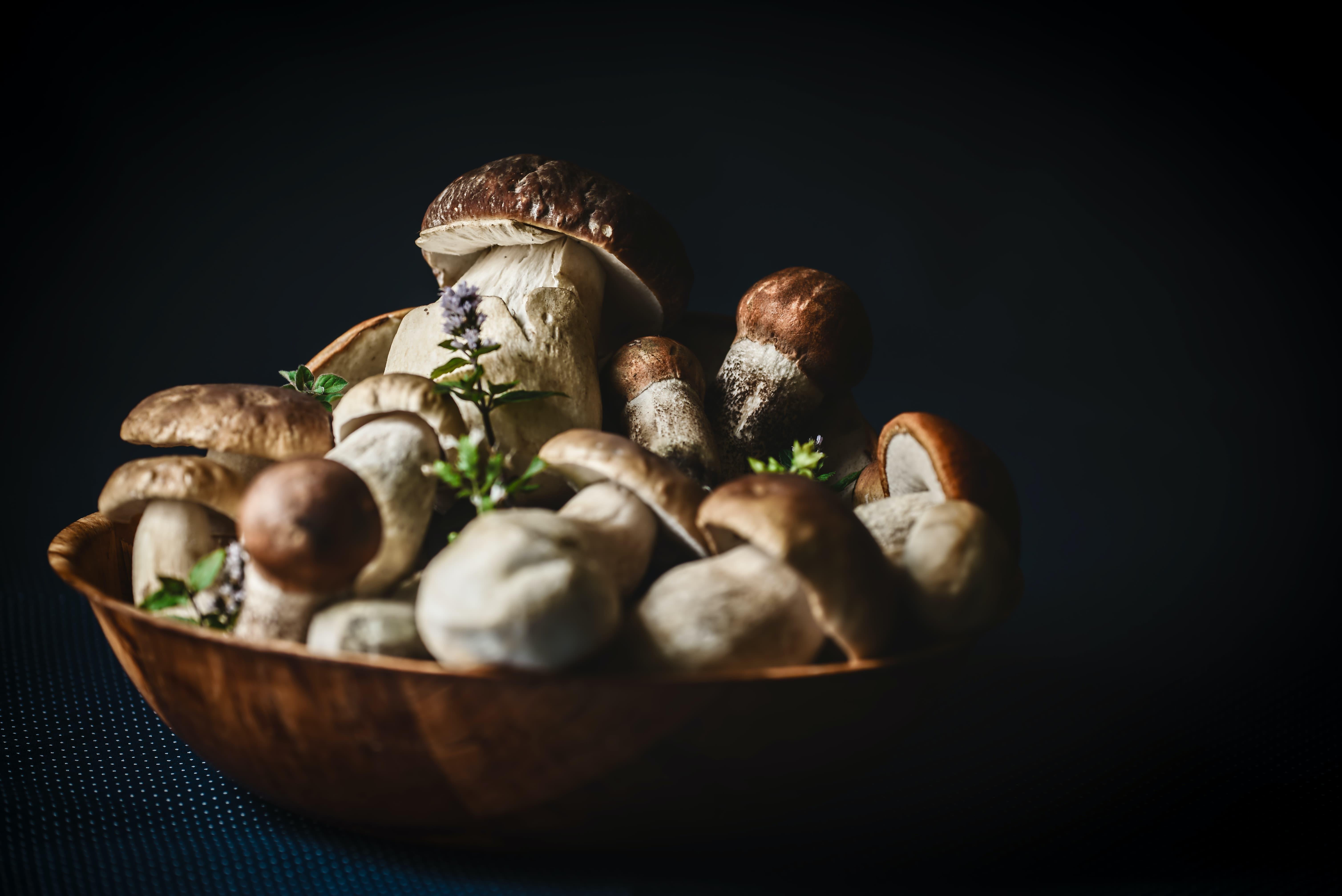 healthy Christmas foods mushrooms
